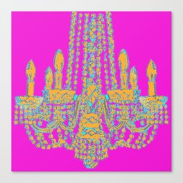 Chandelier Vintage sketch  Canvas Print