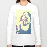 dave grohl Long Sleeve T-shirts featuring Dave Grohl by Giuseppe Cristiano