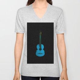 Blue Guitar Music Music Lover Instrument Unisex V-Neck