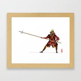 Samurai with Yari Framed Art Print