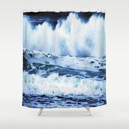 Wild Oregon Coast Waves Shower Curtain