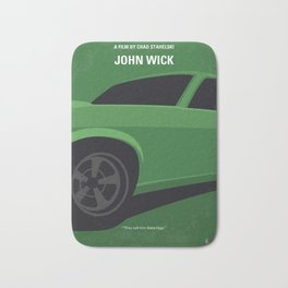 No759 My John Wick minimal movie poster Bath Mat