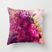 climbing Throw Pillows featuring climbing  roses by clemm