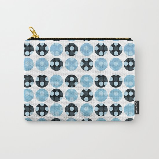 polka dots with blue colors Carry-All Pouch