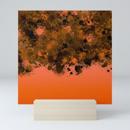 paint splatter on gradient pattern or Mini Art Print