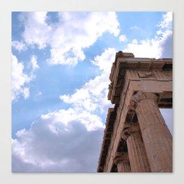 Sky above Parthenon Canvas Print