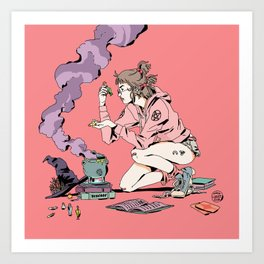 BRUJA Cauldron Art Print