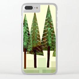 Fir Trees Clear iPhone Case