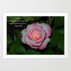 Rose of Love Art Print