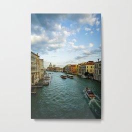 Venice from a Bridge Metal Print