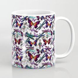 Dragonfly and Monarch Butterfly Fantasy Coffee Mug
