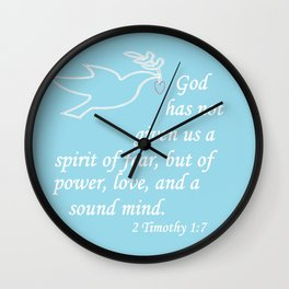 No Spirit of Fear Wall Clock