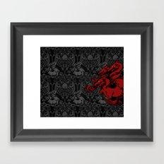 Dragon Damask Framed Art Print