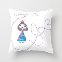 princesa laia Throw Pillow