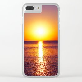 Peraia sunset Clear iPhone Case