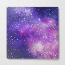 Space Nebula Galaxy Stars Metal Print