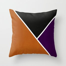 Noir Series - Orange & Purple Throw Pillow