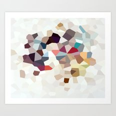 Africa Geometric Abstract Art Print
