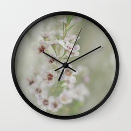 Daydreaming is Her Way -- Romantic Spring Floral Wall Clock