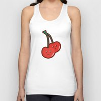 kawaii Tank Tops featuring Kawaii Cherry by Nir P