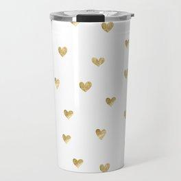 Gold Heart Travel Mug