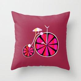 Fruity ride Throw Pillow