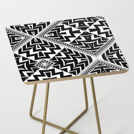 Black and White   Leyana Tribal 1 Side Table