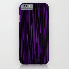 Vertical cross violet lines on a dark tree. iPhone Case