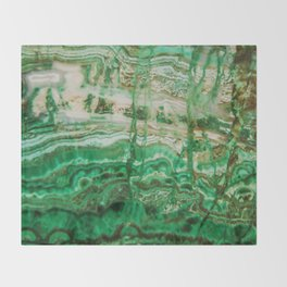 MINERAL BEAUTY - MALACHITE Throw Blanket