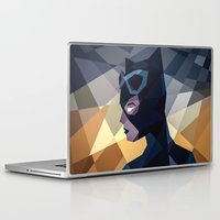 dc comics Laptop & iPad Skins featuring DC Comics Catwoman by Eric Dufresne