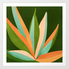 Colorful Agave / Painted Cactus Illustration Art Print