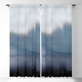 In Blue Blackout Curtain