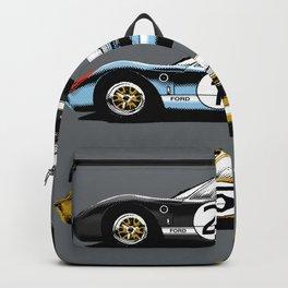 Three racing cars Backpack