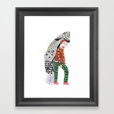 Fish Man Framed Art Print