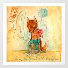 Little Drop of Poison Fox Art Print