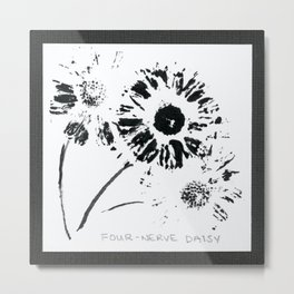 002/100: FOUR-NERVE DAISY [100 Day Project 2020] Metal Print