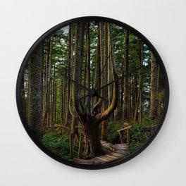 Cape Flattery Trees Wall Clock