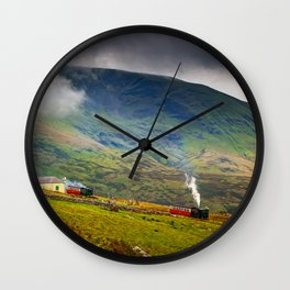 Steam Trains To The Summit Wall Clock