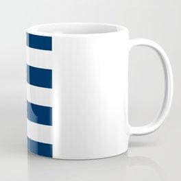 Aqua Anchor Shape on Wide Stripes Pattern Coffee Mug