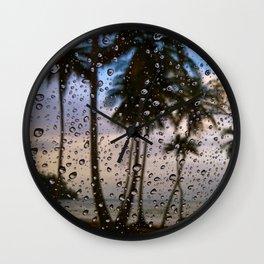 Rainy Vacation Wall Clock