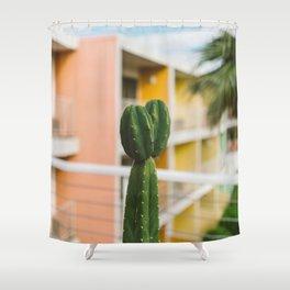 Palm Springs Cactus Shower Curtain