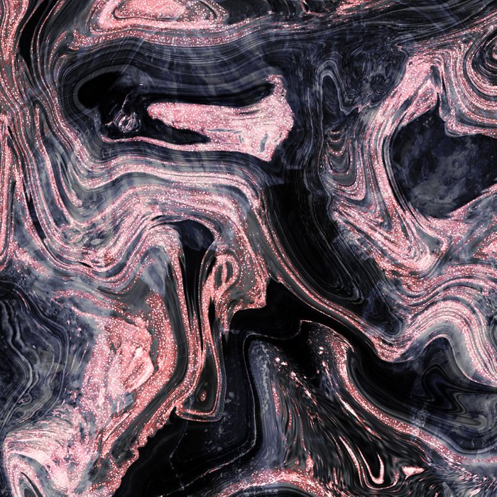 Stylish rose gold abstract marbleized design Duvet Cover