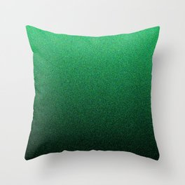 Green and Black Static Ombre Throw Pillow