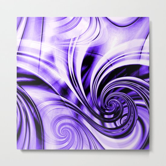 Curls Deluxe Purple Metal Print