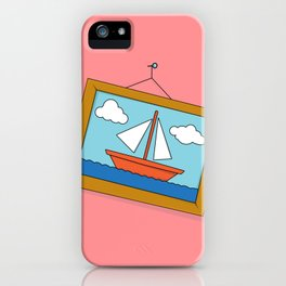 Scene from Moby Dick on pink iPhone Case