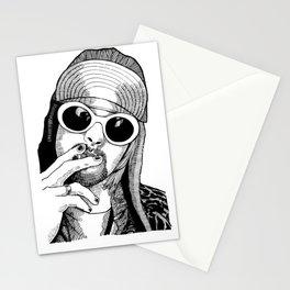 kurt fucking cobain Stationery Cards