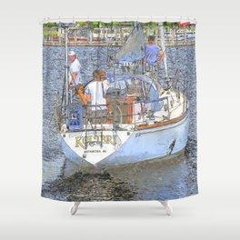 Kolibri Sailboat Shower Curtain