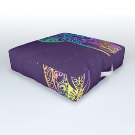 Magical mystery elephant Outdoor Floor Cushion