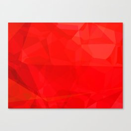 Mottled Red Poinsettia 1 Ephemeral Abstract Polygons 3 Canvas Print