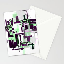Mint Green City Stationery Cards